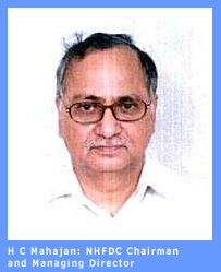 Picture of H. C. Mahajan, Chairman and Managing Director of NHFDC