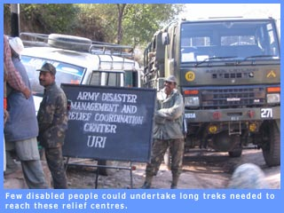 Picture of an Army relief centre in Uri