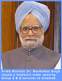 A picture of Prime Minister Dr. Manmohan Singh.