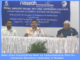 Zonal Consultative meet on Inclusive Education underway in Mumbai