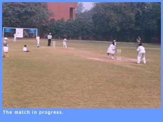 Picture of the match in progress