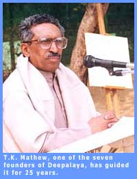 Picture of T.K. Mathew, one of the founders of Deepalaya.