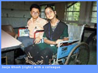 Picture of Jeeja Ghosh and a colleague.