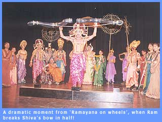 A scene from the play 'Ramayana on wheels'.