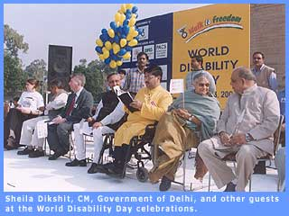 Guests at the World Disability Day celebrations at India Gate.