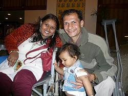Neeta Panchal with her husband and son