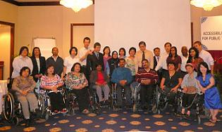 Javed Abidi with Malaysian disability rights leaders