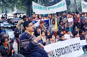 Candle light vigil outside Mukul Wasnik's residence on Dec 31, 2010