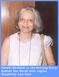 Picture of Ketaki Bardelai, who is the driving force behind the North East region Disability Law Unit